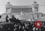 Image of allied soldiers in front of The Monument to Victor Emanuel II Italy, 1944, second 2 stock footage video 65675040763