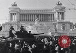 Image of allied soldiers in front of The Monument to Victor Emanuel II Italy, 1944, second 4 stock footage video 65675040763