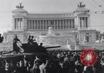 Image of allied soldiers in front of The Monument to Victor Emanuel II Italy, 1944, second 5 stock footage video 65675040763