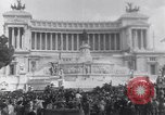 Image of allied soldiers in front of The Monument to Victor Emanuel II Italy, 1944, second 8 stock footage video 65675040763