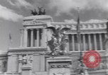 Image of allied soldiers in front of The Monument to Victor Emanuel II Italy, 1944, second 14 stock footage video 65675040763