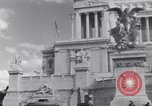 Image of allied soldiers in front of The Monument to Victor Emanuel II Italy, 1944, second 16 stock footage video 65675040763