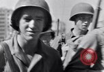 Image of allied soldiers in front of The Monument to Victor Emanuel II Italy, 1944, second 32 stock footage video 65675040763