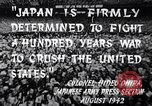 Image of Fervently patriotic Japanese people Pacific Theater, 1945, second 7 stock footage video 65675040811