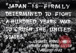 Image of Fervently patriotic Japanese people Pacific Theater, 1945, second 8 stock footage video 65675040811