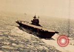 Image of Navy fighter aircraft landing on USS Essex Pacific Theater, 1945, second 17 stock footage video 65675040813