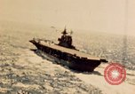 Image of Navy fighter aircraft landing on USS Essex Pacific Theater, 1945, second 18 stock footage video 65675040813