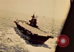 Image of Navy fighter aircraft landing on USS Essex Pacific Theater, 1945, second 24 stock footage video 65675040813