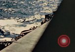 Image of Navy fighter aircraft landing on USS Essex Pacific Theater, 1945, second 31 stock footage video 65675040813