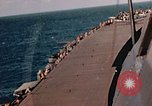 Image of Navy fighter aircraft landing on USS Essex Pacific Theater, 1945, second 46 stock footage video 65675040813