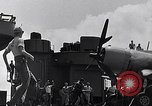 Image of F4U Corsair landing incident Pacific Theater, 1943, second 57 stock footage video 65675040833