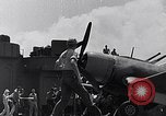 Image of F4U Corsair landing incident Pacific Theater, 1943, second 60 stock footage video 65675040833