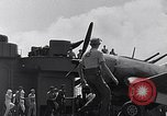 Image of F4U Corsair landing incident Pacific Theater, 1943, second 61 stock footage video 65675040833