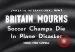 Image of Munich Air Disaster crash of flight 609 Munich Germany, 1958, second 18 stock footage video 65675040875