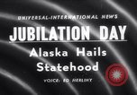 Image of Alaska approved for statehood Anchorage Alaska USA, 1958, second 1 stock footage video 65675040888