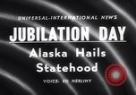 Image of Alaska approved for statehood Anchorage Alaska USA, 1958, second 2 stock footage video 65675040888