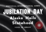 Image of Alaska approved for statehood Anchorage Alaska USA, 1958, second 4 stock footage video 65675040888