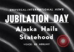 Image of Alaska approved for statehood Anchorage Alaska USA, 1958, second 5 stock footage video 65675040888
