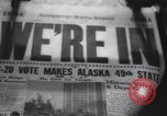Image of Alaska approved for statehood Anchorage Alaska USA, 1958, second 12 stock footage video 65675040888