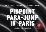 Image of Parachute competition Paris France, 1958, second 2 stock footage video 65675040894