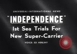 Image of USS Independence CV-62 New York City USA, 1959, second 15 stock footage video 65675040895