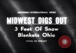 Image of snow Cleveland Ohio USA, 1962, second 1 stock footage video 65675040902