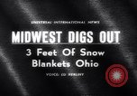 Image of snow Cleveland Ohio USA, 1962, second 4 stock footage video 65675040902