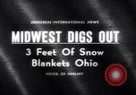 Image of snow Cleveland Ohio USA, 1962, second 5 stock footage video 65675040902