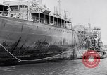 Image of Damaged ship Atlantic Coast, 1942, second 46 stock footage video 65675040908