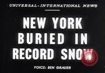 Image of Blizzard of 1947 New York City USA, 1947, second 1 stock footage video 65675040929