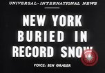 Image of Blizzard of 1947 New York City USA, 1947, second 2 stock footage video 65675040929