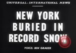 Image of Blizzard of 1947 New York City USA, 1947, second 3 stock footage video 65675040929