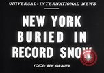 Image of Blizzard of 1947 New York City USA, 1947, second 4 stock footage video 65675040929