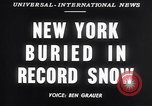 Image of Blizzard of 1947 New York City USA, 1947, second 5 stock footage video 65675040929
