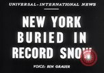 Image of Blizzard of 1947 New York City USA, 1947, second 6 stock footage video 65675040929