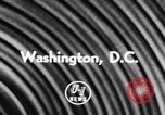 Image of President Eisenhower Washington DC USA, 1956, second 3 stock footage video 65675040947