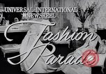 Image of Fashion Parade New York United States USA, 1956, second 3 stock footage video 65675040956