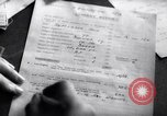 Image of RAF fighter pilots complete their combat reports England United Kingdom, 1940, second 56 stock footage video 65675041017