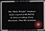 Image of Baby Wright Airplane College Park Maryland USA, 1930, second 2 stock footage video 65675041059