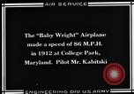 Image of Baby Wright Airplane College Park Maryland USA, 1930, second 7 stock footage video 65675041059