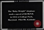 Image of Baby Wright Airplane College Park Maryland USA, 1930, second 8 stock footage video 65675041059