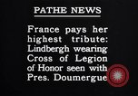 Image of Charles A. Lindbergh Paris France, 1927, second 62 stock footage video 65675041066