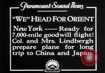Image of Charles Lindbergh New York United States USA, 1927, second 10 stock footage video 65675041070