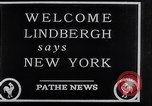 Image of Charles Lindbergh New York City USA, 1927, second 22 stock footage video 65675041077