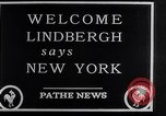 Image of Charles Lindbergh New York City USA, 1927, second 23 stock footage video 65675041077