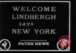 Image of Charles Lindbergh New York City USA, 1927, second 25 stock footage video 65675041077