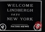 Image of Charles Lindbergh New York City USA, 1927, second 26 stock footage video 65675041077