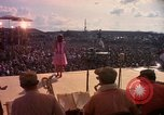 Image of Bob Hope and troupe entertain troops during Vietnam War Saigon Vietnam, 1966, second 17 stock footage video 65675041115