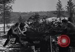 Image of tree cutting contest Luther Washington USA, 1935, second 20 stock footage video 65675041274
