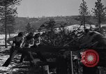 Image of tree cutting contest Luther Washington USA, 1935, second 21 stock footage video 65675041274